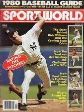 1980 (June) Sport World Baseball magazine, Ron Guidry, New York Yankees ~ Fair