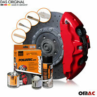 Foliatec Brake Caliper & Engine Lacquer Paint Set Racing Rosso Red Color