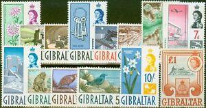 Gibraltar 1960 set of 14 SG160-173 V.F MNH