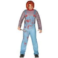 Adult Men Killer Chucky Halloween Horror Fancy Dress Costume