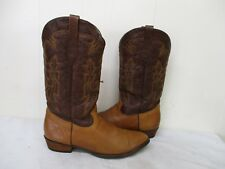 Corral Light Brown Leather Cowboy Boots Mens Size 13 D Style 27416