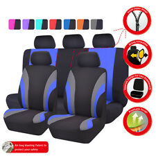 Universal Car Seat Covers Black Blue Fit SUV Truck SUV Honda Hyundai Ford Toyota