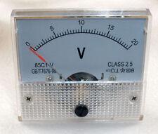 DC 20V Analog Panel Voltmeter Volt Voltage Meter Gauge 85C1 Class 2.5 DC 0-20V