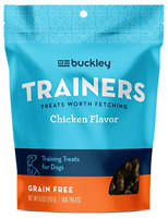 Buckley Trainers All-Natural Grain-Free Dog Training Treats, Chicken, 6 Ounce