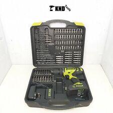 Guild 1.5Ah Combi Drill 1 18V Batteries & 100 Accessories