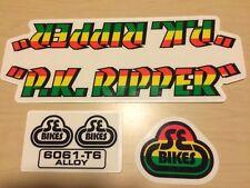 SE PK Ripper Rasta custom frame decals Sticker (translucent) Old School Bmx