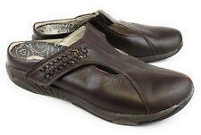 Propet Rejuve Brown Leather Slip On Open Heel Mules Shoes Women's 7.5 N(AA)