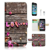 ( For iPhone 7 ) Wallet Case Cover P1603 Love