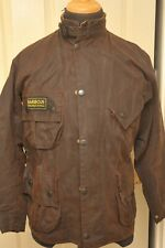 ULTRA RARE BARBOUR A505 BROWN VINTAGE MOTORCYCLE JACKET WAX COTTON 40 / 102CM