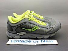 Saucony Grid Virrata Dark Grey Yellow Black Running Shoes SC46703 sz 1.5