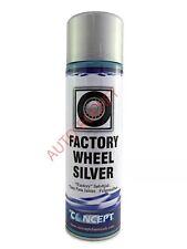 FACTORY ALLOY WHEEL SILVER SPRAY PAINT 450ML 'Sparkle' Smooth Aluminium Finish