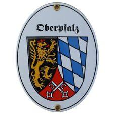 Oberpfalz Bayern Email Schild Fahne Emaille 11,5 x 15cm NEU