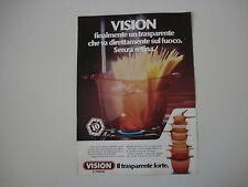 advertising Pubblicità 1981 VISION CORNING
