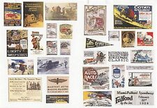JL Innovative 549 x HO 1920-1940s Vintage Racing & Speedway Posters/Signs (30)
