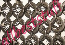 Chain Mail Sheet Round Rivet Flat Washer Solid Ring Chainmail- SHEET Only