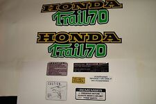 CT70  K3 Trail 70 frame Decals Green, Graphics Full Set !