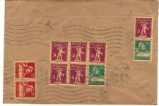 SWITZERLAND 1930 BOOKLET PANE OF 6 Sc #160a ON REG LUZERN COVER TO VIENNA V-RARE