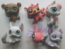 LPS Littlest Pet Shop Lot of 6 Different Animals Horse Red Panda Bear Dragon Fly