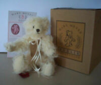 """CHANNING  Mary Meyer Mohair creme 10"""" jointed  plush bear"""
