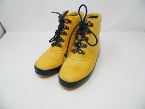 Vintage Coleman Rain Boots size 5 Women yellow  Rubber Duck Boots - Fashion