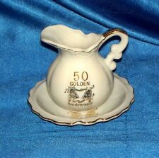 Norcrest 50 Golden Anniversay creamer Pitcher & Bowl