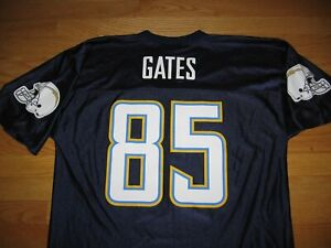 SAN DIEGO CHARGERS ANTONIO GATES NEW JERSEY BY NFL TEAM APPAREL MEN'S LARGE