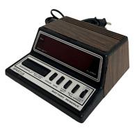 💲 1980s Vintage Spartus Alarm Clock Digital Neptune Model 1104 Woodgrain (RR1)