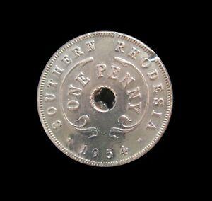 SOUTHERN RHODESIA PENNY 1954 ELIZABETH II KM 29 #3767#