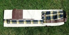 Liberty Mutual Invitational Golf Sunday Carry Bag Plaid Leather Canvas Slim