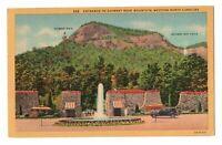 1940s Entrance to Chimney Rock Mountain Western North Carolina Linen Postcard