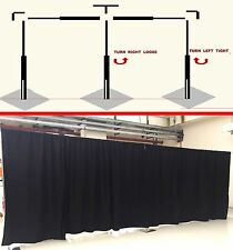 3x6M Adjustable Pipe Drape Stainless Steel Wedding Party Curtain Backdrop Stand