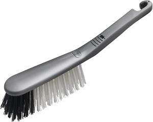 Addis Stiff Hard Bristle Nylon Hand Brush Silver Metallic 510379
