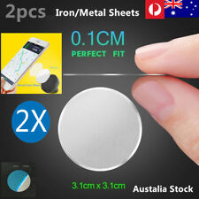 2 PCs Metal Iron Sheets Plate For Mobile Phone holder Magnetic Car Mount Holder