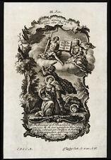 santino incisione 1700 SS.GIULIANO E BASILLISSA MM.   klauber