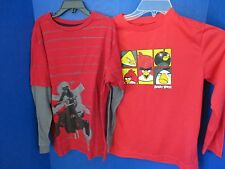 OLD NAVY~Lot of 2~ Long Sleeved TEE T-SHIRTS~Angry Birds~Off Road~Boys Medium 8