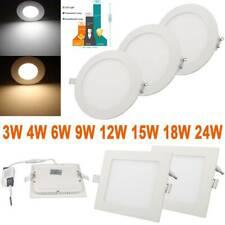 3W-24W LED Panel Light Recessed Ceiling Down Lights Bulb Ultra Slim Lamp Fixture