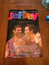 1995 Original Jeffrey Movie Poster With Autograph of Bryan Batt