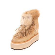 RRP €240 PALOMA BARCELO Leather & Rabbit Fur Ankle Boots Size 40 UK 7 US 10 Heel