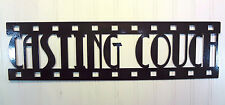 Casting Couch, New Metal Wall Art, Home Theater Decor, Contemporary Movie Sign