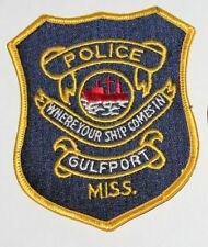 GULFPORT POLICE DEPT Mississippi Where Your Ship Comes In MS Miss PD patch