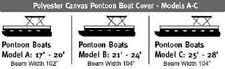 Wake Monsoon Premium Pontoon Boat Cover Fits 25-28 FT Blue