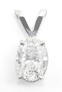 1.01CT OVAL DIAMOND PENDANT 18CT £3750 SAFEGUARD VALUATION HALLMARKED BARGAIN!!!