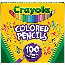 100 Count Crayola Colored Pencils, Pre-Sharpened, Vibrant Colors, Art Coloring