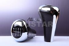 Luxury Gear Shift Knob BMW 6 Speed E82 E88 E90 E92 LEATHER CHROME