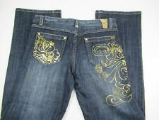 ECKO RED Denim Foundry Women's Bootcut Low-Rise Jeans Rivet Embellished Size 5