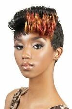 Motown Tress Synthetic Wig Scarlet 1B(FB)RED (Off Black with Red Front Bang)