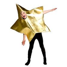 Boys Girls Childrens Gold Star Christmas Nativity Fancy Dress Costume Xmc4624