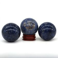 40MM Natural Gemstone Blue Sodalite Crystal Reiki Healing Sphere Ball (1pcs)