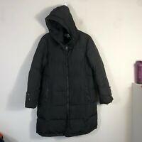 Calvin Klein Down Jacket Women's L Black Quilted Puffer Winter Coat