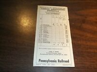 APRIL 1964 PRR PENNSYLVANIA RAILROAD STEUBENVILLE, OHIO PUBLIC TIMETABLE